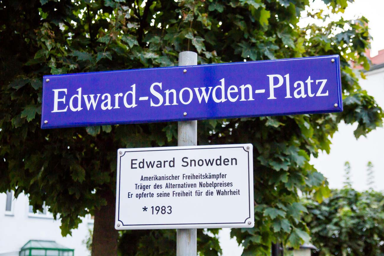 Edward Snowden street sign